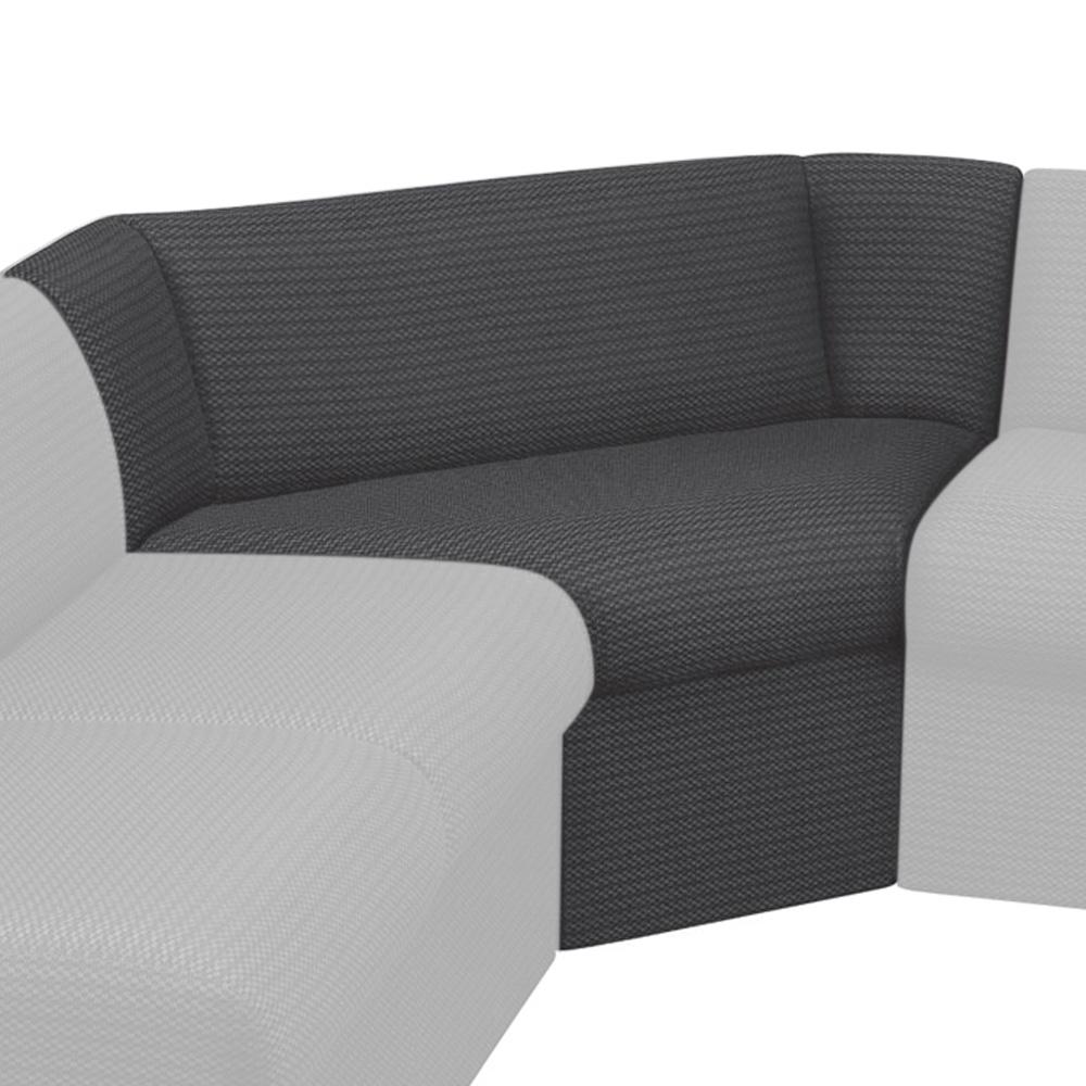 HPFI® STEPS Modular Lounge Seating - 90° Corner Seat, Fabric