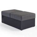 HPFI® STEPS Modular Lounge Seating - Square Two Seat Bench, Leather