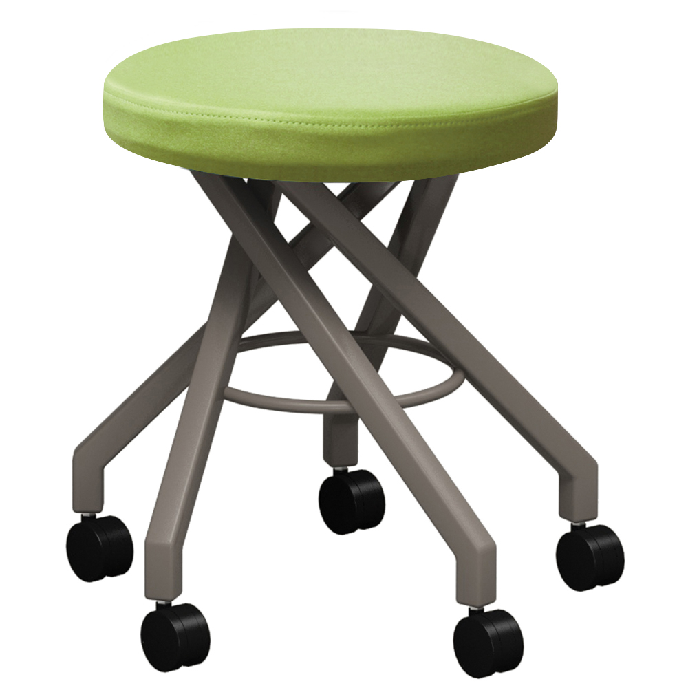 mediatechnologies™ Carlo Stool - 18 in., 5 Post Stool with Casters