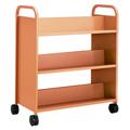 SMITH SYSTEM® Buffalo Book Truck - 6 Sloped Shelves