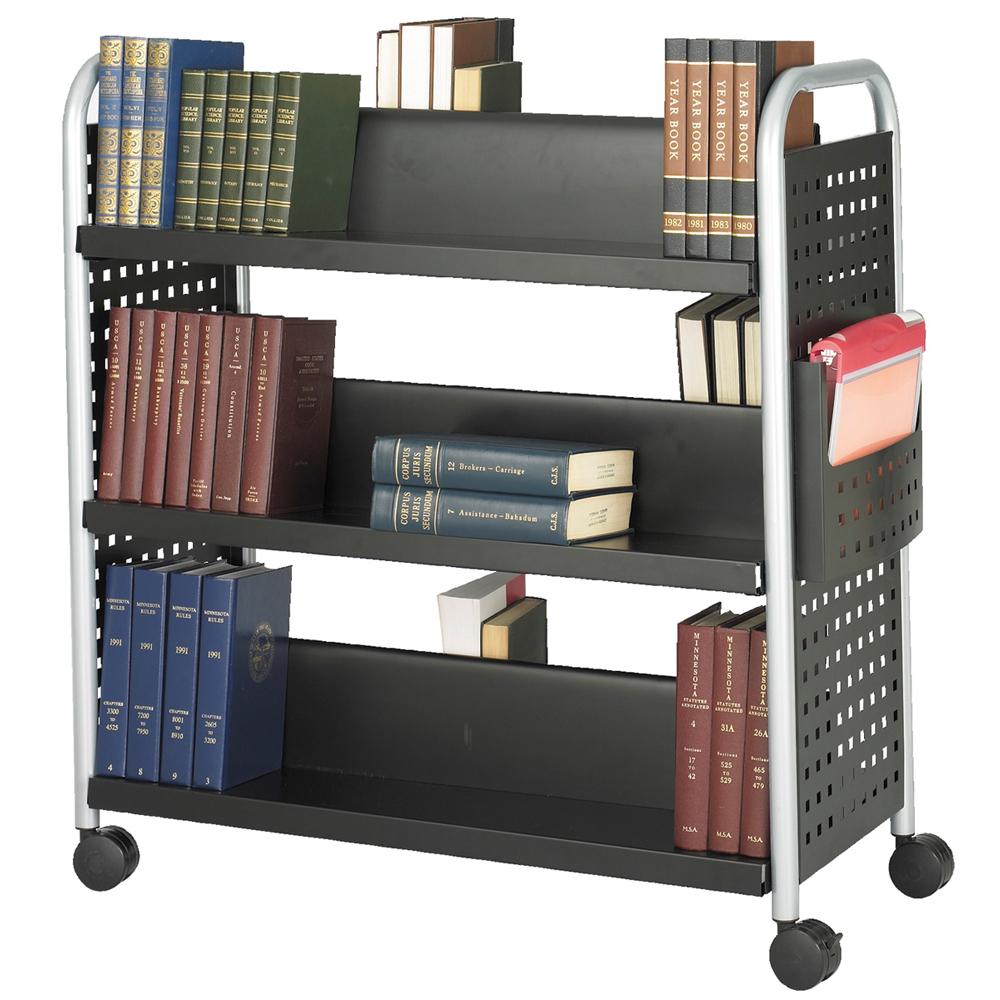 SAFCO® Scoot™ Book Truck - 6 Sloped Shelves
