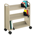SMITH SYSTEM® Buffalo Book Truck - 3 Sloped Shelves