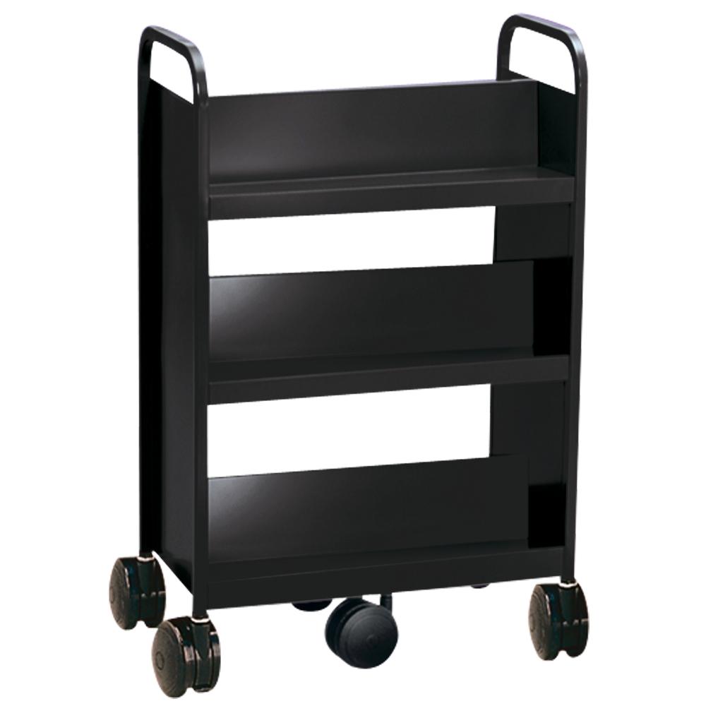 SMITH SYSTEM™ GORILLA™ Book Truck- 6 Sloped Shelves