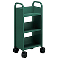 SMITH SYSTEM® Buffalo Book Truck - Mini 3 Sloped Shelves