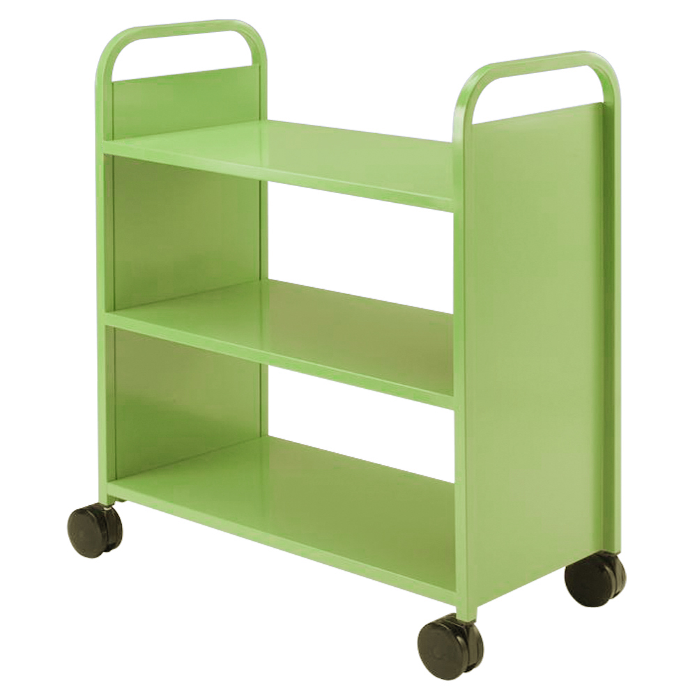 SMITH SYSTEM® Buffalo Book Truck- 3 Flat Shelves