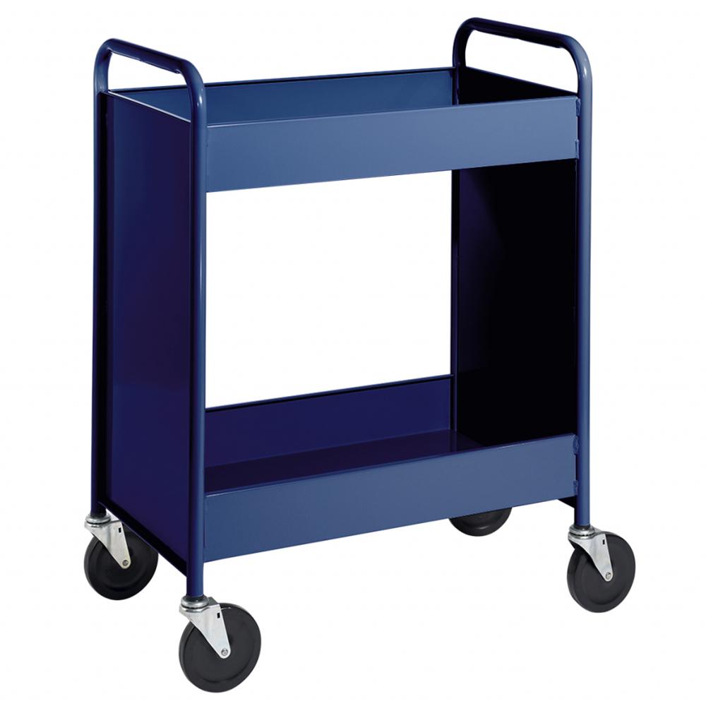 """BioFit® Book Truck - 2 Flat 4""""D Trays"""