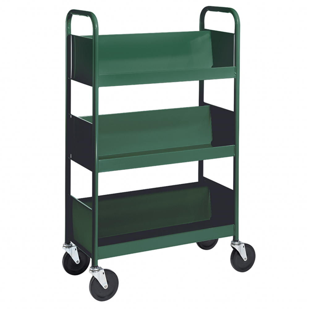BioFit® Book Truck - 3 Sloped Shelves