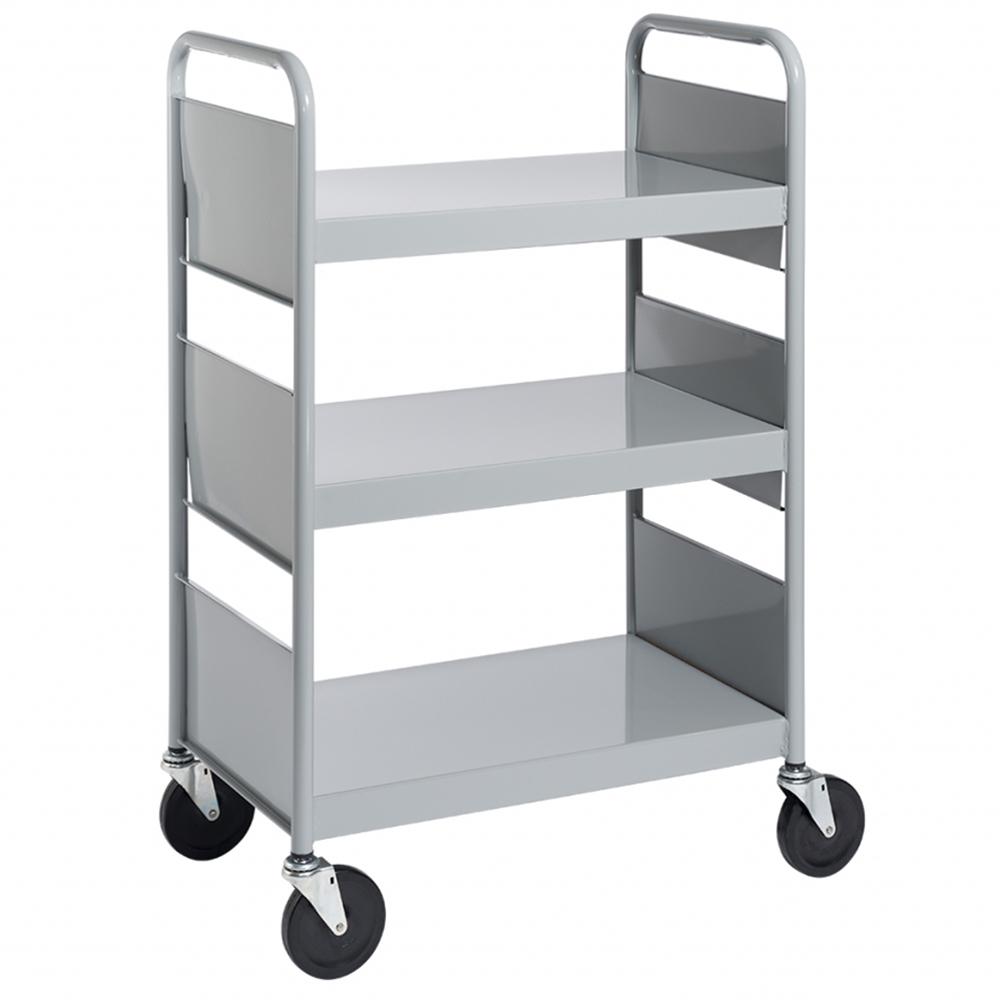 BioFit® Book Truck - 3 Flat Shelves