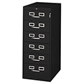 tennsco™ Steel Card & Media File - 6-Drawer, 53H