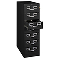 tennsco™ Steel Card & Media File - 7-Drawer, 53H