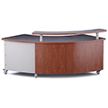 Russwood® Rover Desk with Patron Ledge