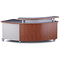Russwood® Rover Desk with Patron Ledge & Arcylic Privacy Panel