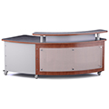 Russwood® Rover Desk with Patron Ledge and Arcylic Privacy & Front Panel