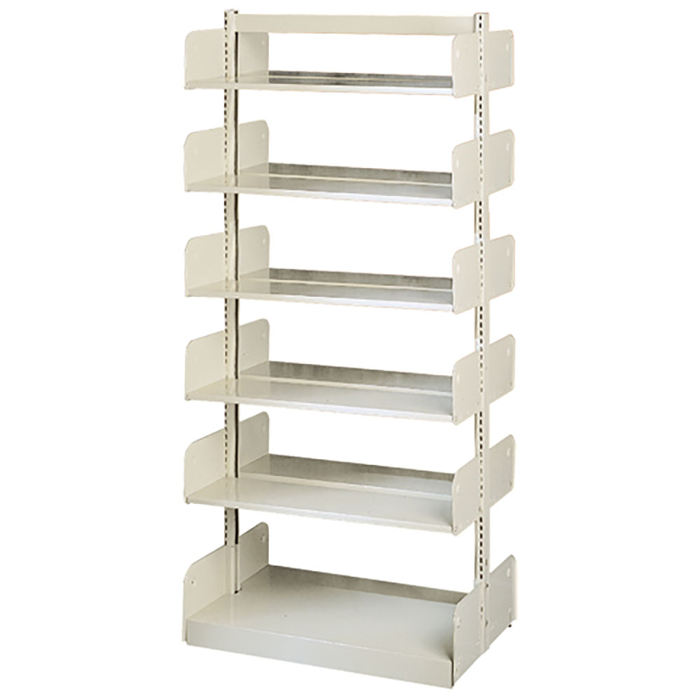 "estey® Steel Cantilever Library Shelving - 78""H x 20""D Double-Face"