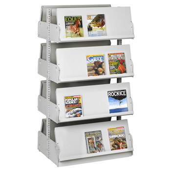 estey® Steel Cantilever Periodical Library Shelving  - 66