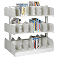 estey® Steel Cantilever Picture Book Library Shelving - 48