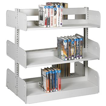 estey® Steel Cantilever Integral Back Library Shelving - 42
