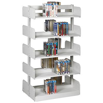 estey® Steel Cantilever Integral Back Library Shelving - 66