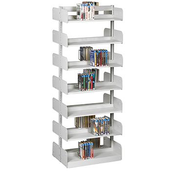 estey® Steel Cantilever Integral Back Library Shelving -84