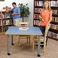 Atlantis™ Library Table - 29H x 42 Square