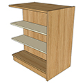 Atlantis™ Wood & Steel Double-Face Mobile Library Shelving - 42