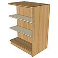 Atlantis™ Wood & Steel Double-Face Mobile Library Shelving - 48