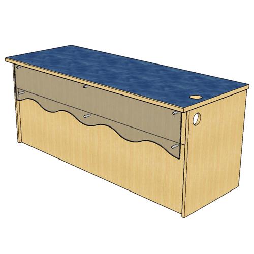 "Atlantis™ Modular Wood Circulation Desk - 29""H x 70""W x 27""D Reference Desk"