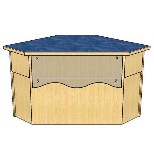 Atlantis™ Modular Wood Circulation Desk - 90° Corner with Closed Clipped Front
