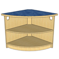 Atlantis™ Modular Wood Circulation Desk - 90° Corner with Open Radius Clipped Front