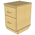 Atlantis™ Modular Wood Circulation Desk - Mobile Pedestal with 1 Box/1 File Drawer
