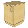 Atlantis™ Modular Wood Circulation Desk - Mobile Pedestal Door with 1 Adjustable Shelf