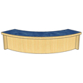 Atlantis™ Modular Wood Circulation Desk - Patron Ledge for Radius Open Corner