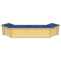Atlantis™ Modular Wood Circulation Desk - Patron Ledge for Clipped Closed Corner