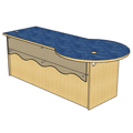 Atlantis™ Modular Wood Circulation Desk - 29