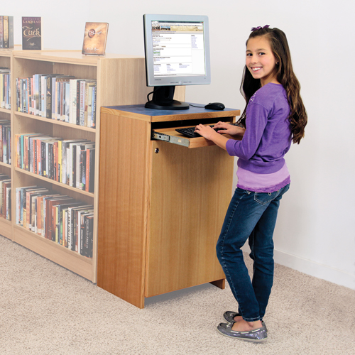 Atlantis™ On-Line Monitor Stand - Stand-up with Locking Cabinet