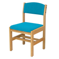 mediatechnologies™ Wood and Fabric Bookmark Chair