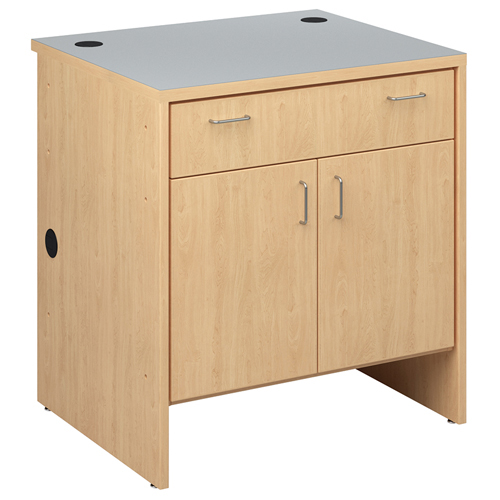 "Russwood® Palette™ Wood Circulation Desk - 39""H x 36""W x 30""D Cupboard with 1 Drawer & 2 Doors"