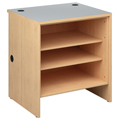 Russwood® Palette™ Wood Circulation Desk -  32