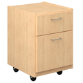 Russwood® Palette™ Wood Circulation Desk - 25H x 17W x 19D Mobile File Cabinet