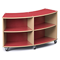 Save 49%      Russwood® Palette™ Radius Mobile Shelving - 36H x 60W x 16D, Single-Face
