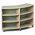Save 49%      Russwood® Palette™ Radius Mobile Shelving - 42H x 60W x 16D, Single-Face