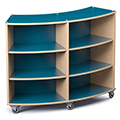 Save 49%      Russwood® Palette™ Radius Mobile Shelving - 48H x 60W x 16D, Single-Face