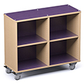 Russwood® Palette™ Cubby Mobile Shelving - 36H x 42W x 16D, Single-Face