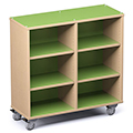 Russwood® Palette™ Cubby Mobile Shelving - 42H x 42W x 16D, Single-Face