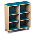 Russwood® Palette™ Cubby Mobile Shelving - 48H x 42W x 16D, Single-Face