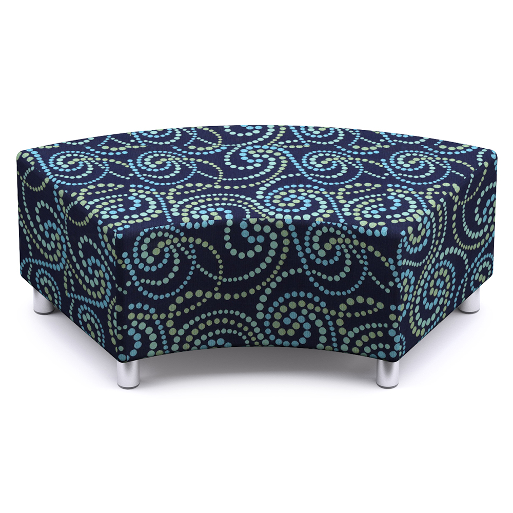Russwood® Palette™ Soft Lounge Seating - 60° Curved Bench, Fabric