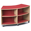 Save 49%      Russwood® Palette™ Radius Mobile Shelving - 36H x 60W x 24D, Double-Face