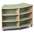 Save 49%      Russwood® Palette™ Radius Mobile Shelving - 42H x 60W x 24D, Double-Face