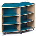 Save 49%      Russwood® Palette™ Radius Mobile Shelving - 48H x 60W x 24D, Double-Face