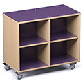Russwood® Palette™ Cubby Mobile Shelving - 36H x 42W x 24D, Double-Face